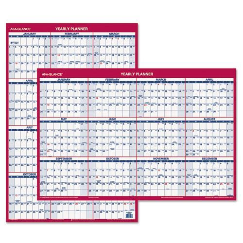 """Ataglance PM2628 Recycled Vertical/Horizontal Erasable Wall Planner, 24"""" x 36"""", 2016"""