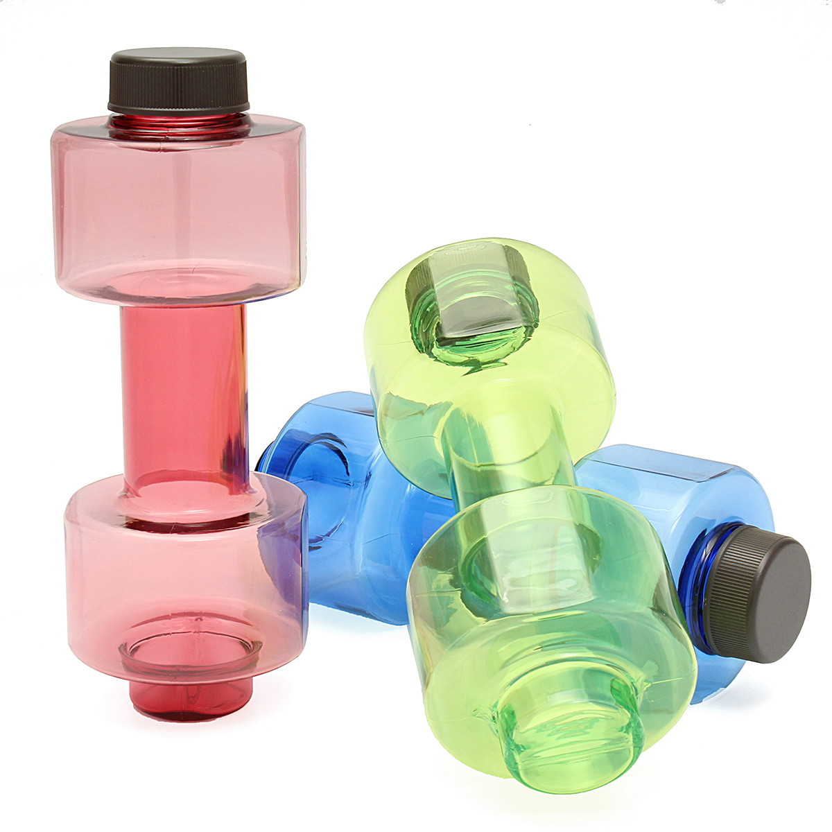 550ml Dumbbell Shaped Sport Travel Water Drink Bottle Lady Gym Exercise Cup NEW