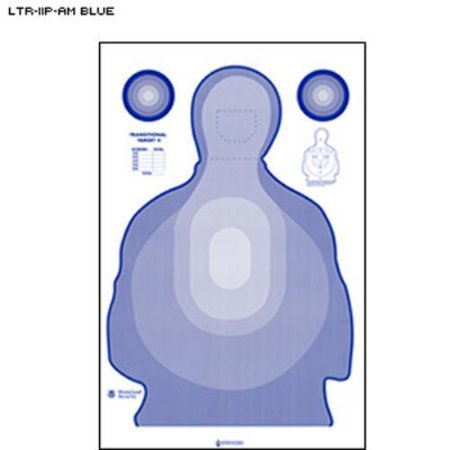 Federal Air Marshal Service Modified Transitional Target II  Pack of 50 - Target Halloween 50 Off