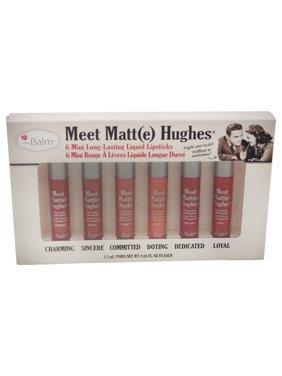 Meet Matte Hughes Mini Long-Lasting Liquid Lipsticks Set by the Balm for Women - 6 Pc Set 0.04oz Charming, 0.04oz Sincere, 0.04oz Committed, 0.04oz Doting, 0.04oz Dedicated, 0.04oz Loyal