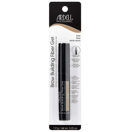 - Brow Building Fiber Gel Taupe Taupe, Adheres to brow hair creating thicker brows By Ardell