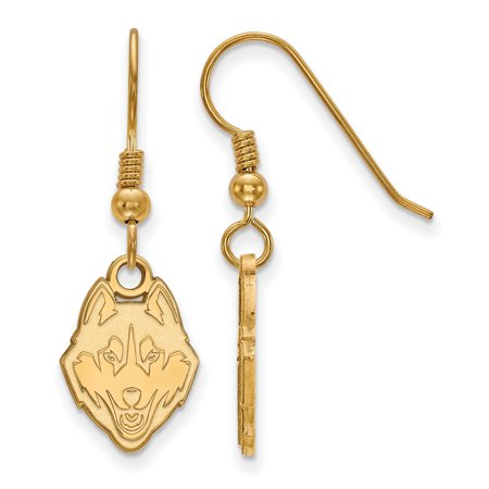 Gold-Toned University of Connecticut Small Dangle Earring Wire