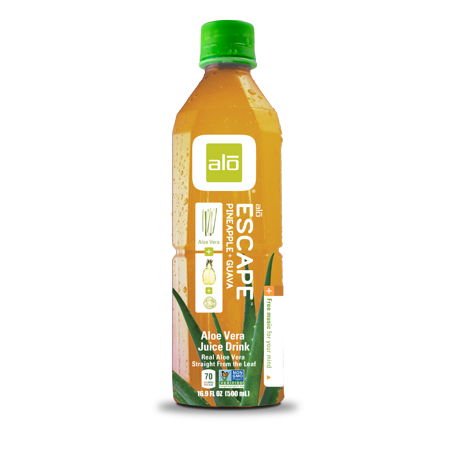 Alo Escape Aloe Vera Juice Drink  Pineapple Guava  16 9 Fl Oz  12 Count