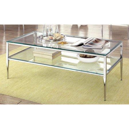 Furniture of America Tyra Stiletto Legged Coffee Table ()