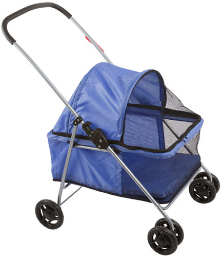 Basket-Style Portable Folding Pet Carrier Stroller by Discount Ramps