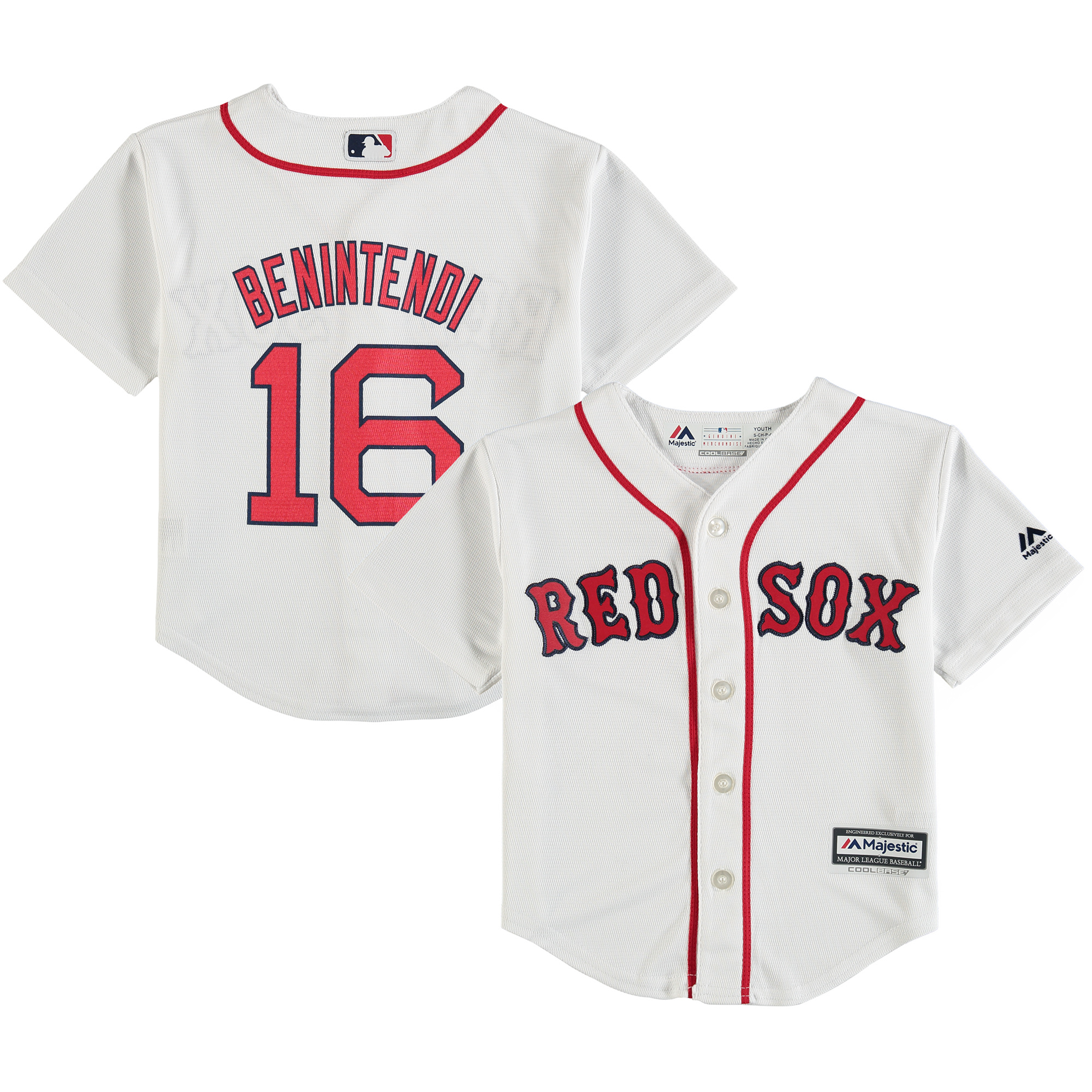 Andrew Benintendi Boston Red Sox Majestic Preschool Home Official Cool Base Player Jersey - White