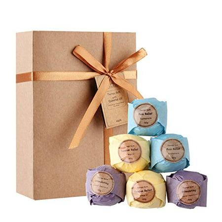 LAVEN Bombe Organic Bath Kit cadeau, 3 Odeurs (Eucalyptus, LAVEN der et Orange) - 6 Pack