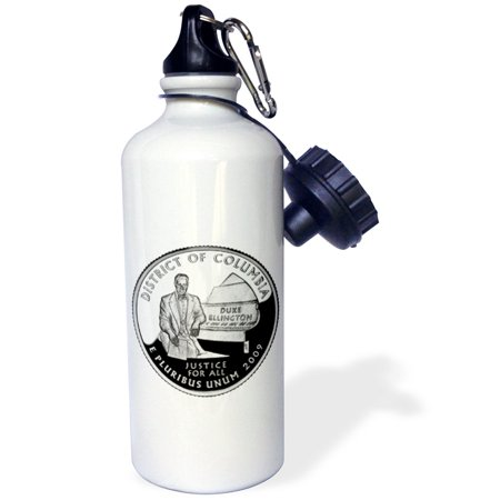 3dRose District of Columbia Quarter (PD-US), Sports Water Bottle, 21oz