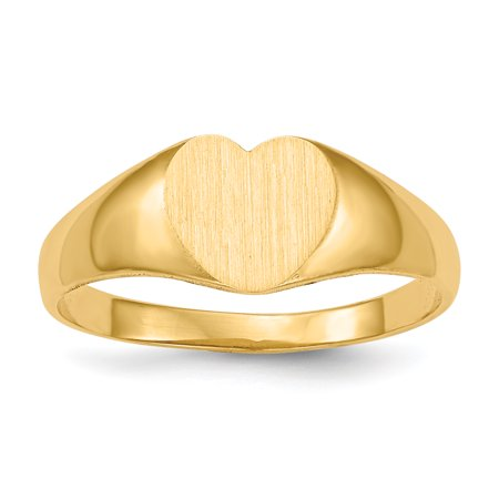 14k Yellow Gold Signet Band Ring Size 5.00