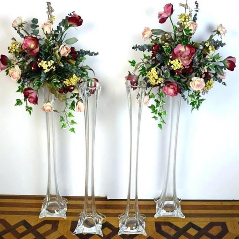 Efavormart 16 Eiffel Tower Wedding Glass Vases For Wedding Party Banquet Events Centerpiece Decoration Flower Vase 12 Pcs Walmart Com Walmart Com