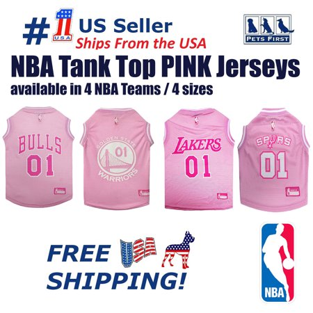 1ccf4f54629 Pets First NBA La Lakers Pink Jersey - 4 Basketball Licensed Teams ...