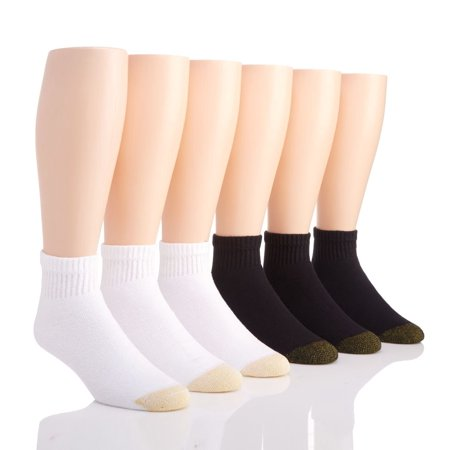 Men's Gold Toe 656P Cushioned Cotton Quarter Socks - 6 Pack