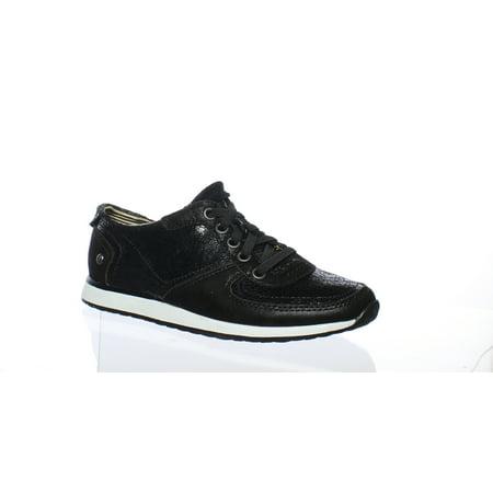 Hush Puppies Womens Chazy Dayo Black Fashion Sneaker Size 5.5