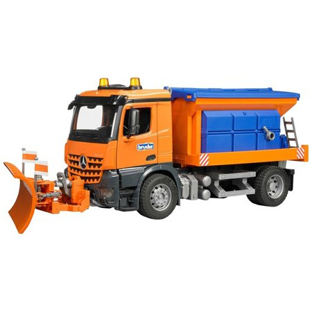 Bruder Toys Mercedes Benz Arocs Winter Service Snow Plow Truck with Plow Blade
