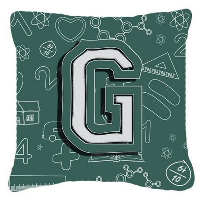 Carolines Treasures CJ2010-GPW1818 Letter G Back To School Initial Canvas Fabric Decorative Pillow - image 1 de 1