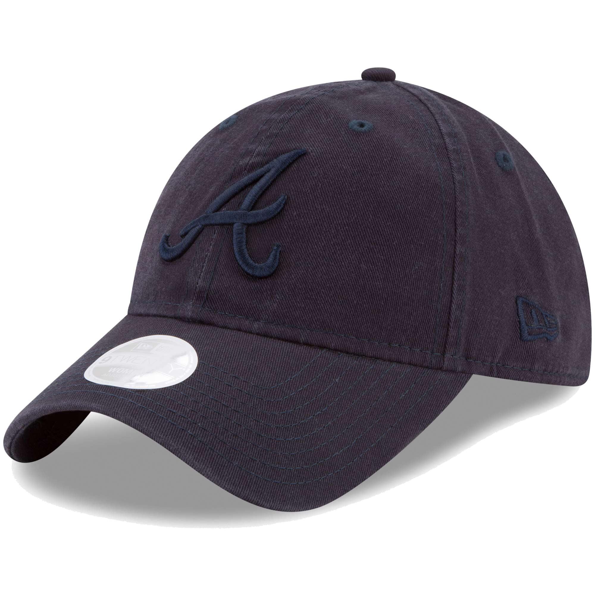 Atlanta Braves New Era Women's Preferred Pick Tonal 9TWENTY Adjustable Hat - Navy - OSFA