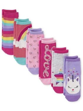 The Children's Place Rainbow Graphic Midi Socks, 6-Pack (Toddler Girls & Baby Girls)