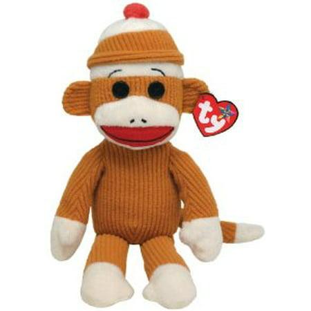 - Ty Beanie Buddies Socks Monkey (Tan Corduroy) Multi-Colored