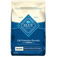 Blue Buffalo Life Protection Formula Natural Senior Dry Dog Food, Chicken and Brown Rice, 30-lb