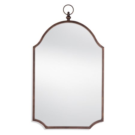 Bassett Leather Mirror (Bassett Mirror Company Malina Wall Mirror - 20W x 34H in. )