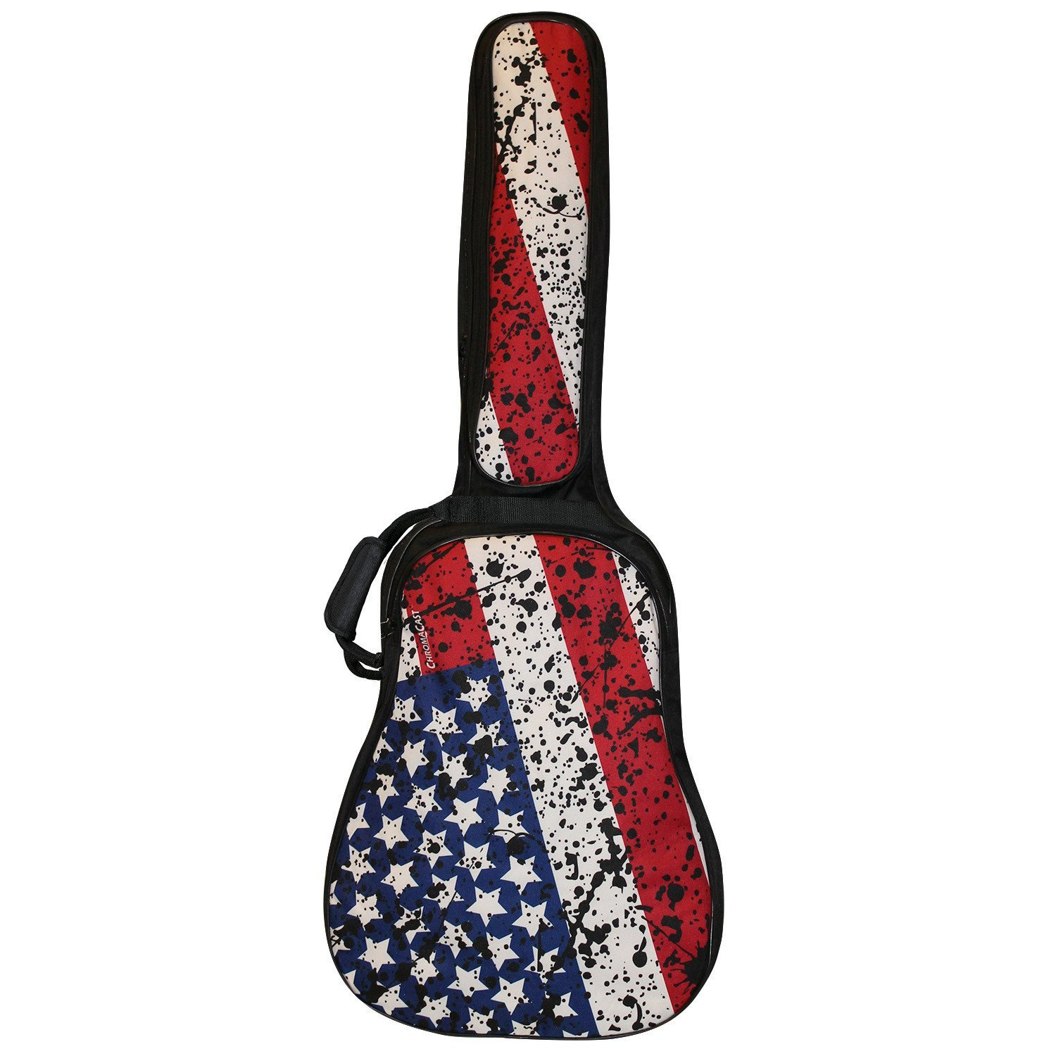 ChromaCast USA Flag Graphic Multi-Pocket Padded Acoustic Guitar Gig Bag