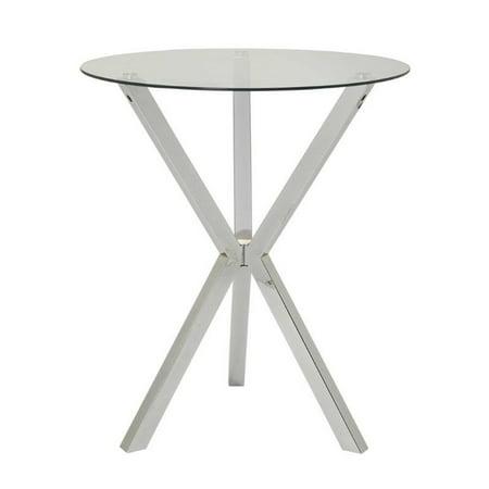 Chrome Modern Bar Table (Coaster Glass Top Pub Table in)