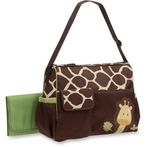 Baby Boom Duffle Diaper Bag, Giraffe Print by Baby Boom