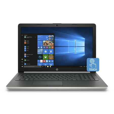 "HP 15 Silver Fusion Laptop 15.6"" Touchscreen , Intel Core i3-8130U, Intel UHD Graphics 620, 1TB HDD + 16GB Intel Optane memory, 4GB SDRAM, DVD, 15-da0033wm"