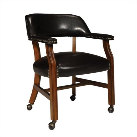 International Concepts Rockwood Game Chair with Caster in Soft Cherry