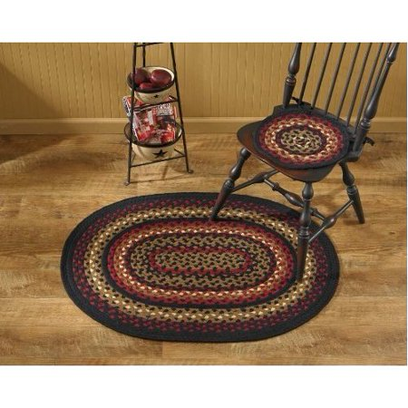 "Folk Art Braided Oval Rug - 32""x42"""