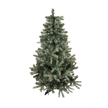 9' Pre-Lit Blue Spruce Full Artificial Christmas Tree ...