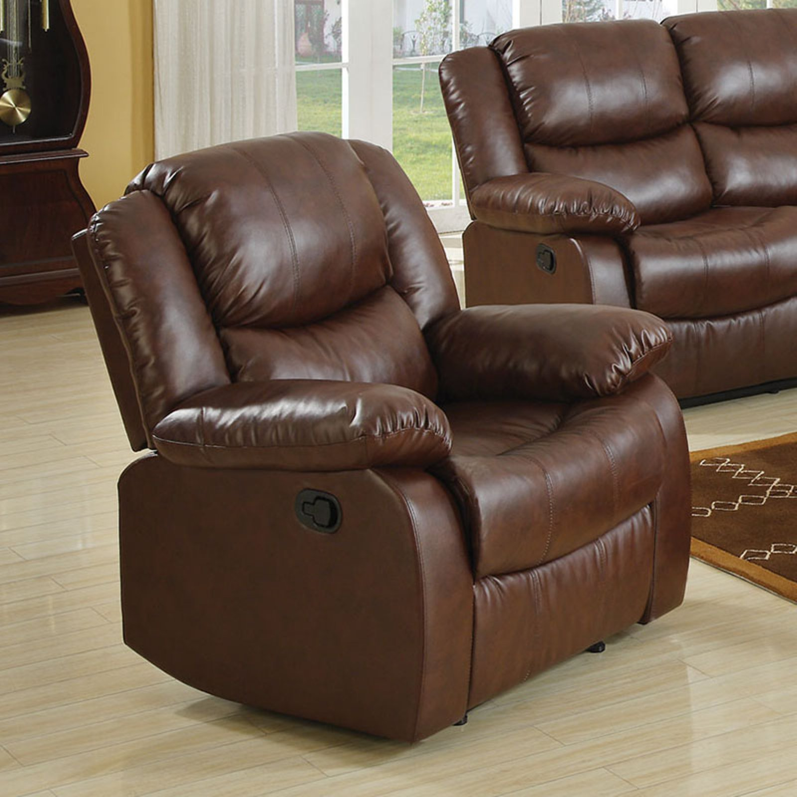 Acme Fullerton Recliner, Brown Bonded Leather Match by Acme Furniture