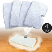4-Pack Mop Replacement Pads for Shark Steam Pocket Mop S3500, S3601, S3550 S3901, Shark Pocket Mop Replacement