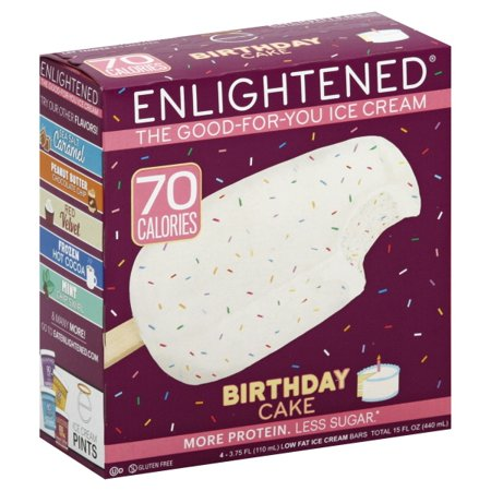 Enlightened Birthday Cake Low Fat Ice Cream Bars 4