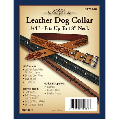 Realeather Crafts Leather Dog Collar 3/4in