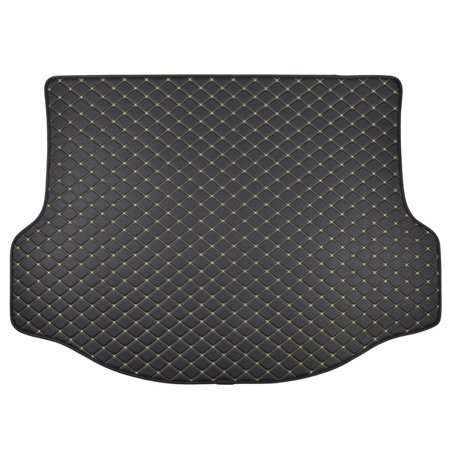 Motor Trend Leatherette Trunk Custom Fit Mat Cargo Liner - Luxury Padded PU Leather - For Toyota RAV4 2015 -2016 2006 Luxury Car Mats