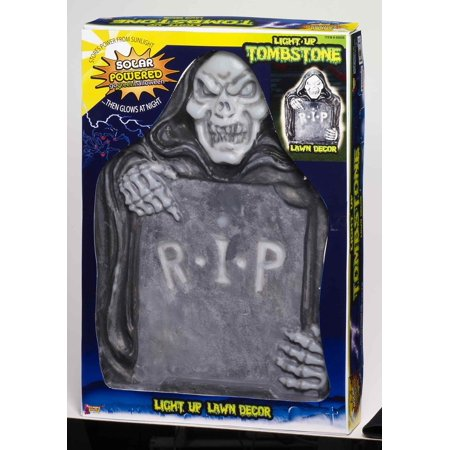 Solar Powered Light Up Tombstone Lawn Halloween Prop Decoration - Solar Dancing Halloween