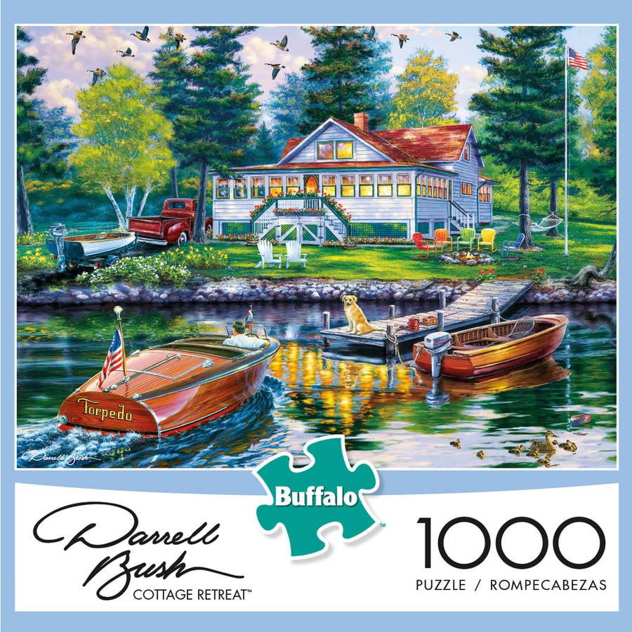 Buffalo Games 1000-Piece Puzzle, Darrel Bush: Cottage Retreat by Buffalo Games