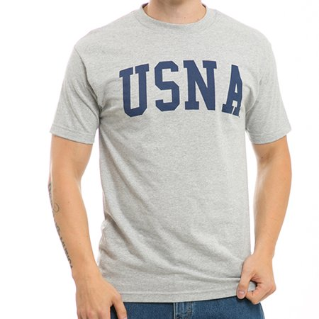 USNA United States Naval Academy, Medium  - NCAA, Game Day Mens Tee T-Shirt - W Republic - Heather Grey
