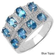JEWELRYAUCTIONSTV Silver London Blue Topaz or Tanzanite Ring