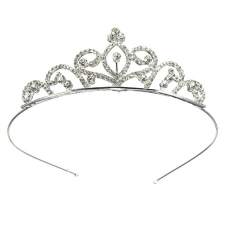 Rhinestone Crystal Crown Tiara - Wedding Bridal Prom Birthday Pegeant Prinecess Crown Headband for Kids/Girls (Prom Crowns Men)