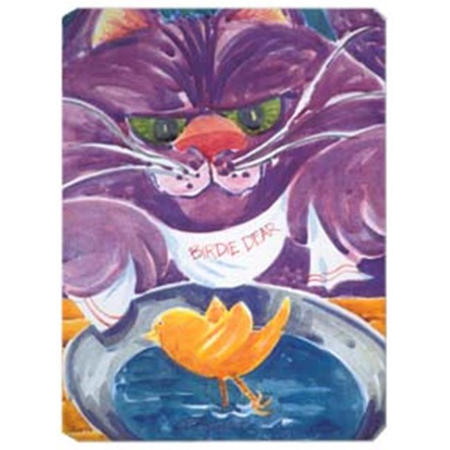 9.5 x 8 in. Purple Cat Birdie Dear Mouse Pad, Hot Pad Or Trivet