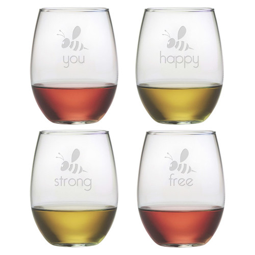 Susquehanna Glass Be You Stemless Wine Glass (Set of 4)