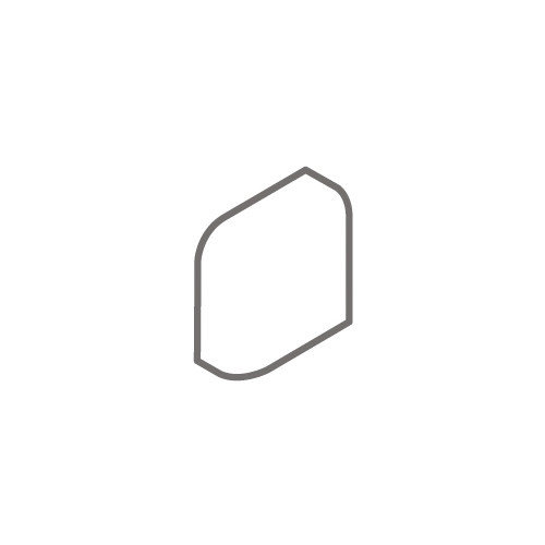 Interceramic Montreaux 2'' x 2'' Radius Bullnose Corner Exterior Tile Trim in Brun (Set of 4)
