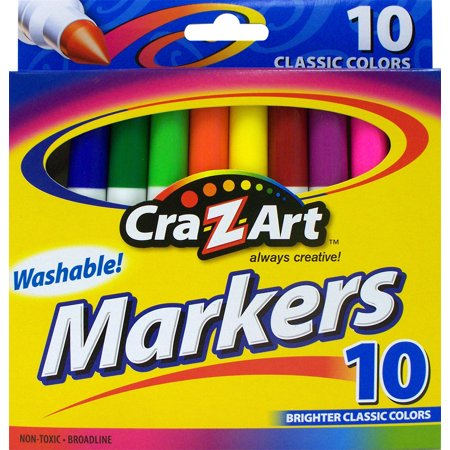 Cra-Z-Art Washable Markers, 10 Count (Pack of 3)](Washable Markers)