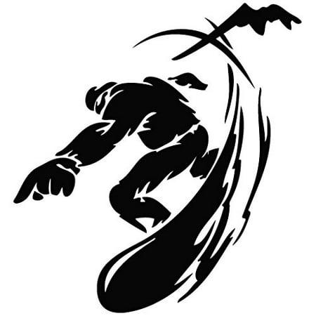 Snowboard Extreme - Tribal Decal [12cm Black] Vinyl Sticker for Car, Ipad, Laptop, Helmet, High Quality Vinyl Decal Sticker For Car, Laptop, Helmet, Motorcycle,.., By Leon Online