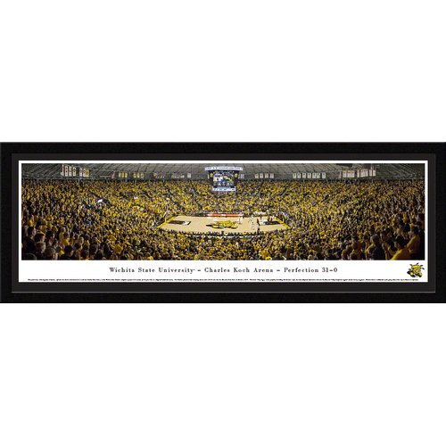 Blakeway Worldwide Panoramas, Inc NCAA Wichita State University - Charles Koch Arena by James Simmons Framed Photographic Print