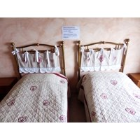 LAMINATED POSTER Hotel Room Stay Double Bed Pension Bed Sleep Poster Print 24 x 36