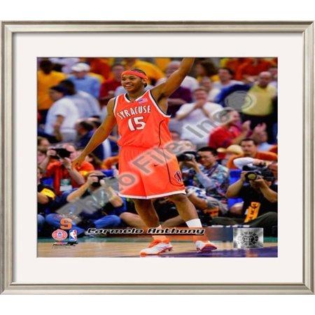 Carmelo Anthony Syracuse University Orangeman Framed Photographic Print Wall Art  - 26x30
