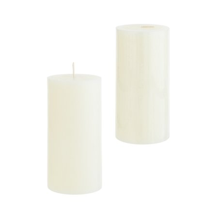 Mega Candles - Unscented 3 Inch x 6 Inch Round Hand Poured Pillar Candle - Ivory